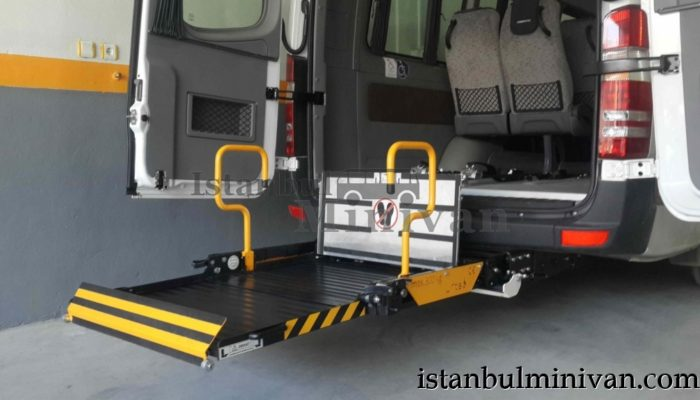 wheelchair access disabled minivan car rental istanbul turkey